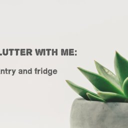 declutter with me: pantry and fridge
