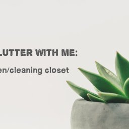 declutter with me – the linen/cleaning closet