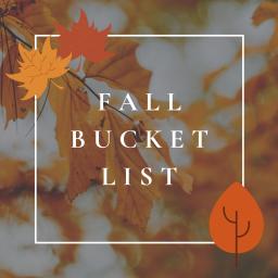 fall 2020 bucket list