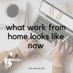 what work from home looks like now