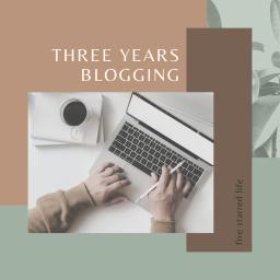three year blog anniversary